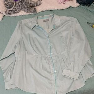 Liz Claiborne long sleeve print blouse sz 3x